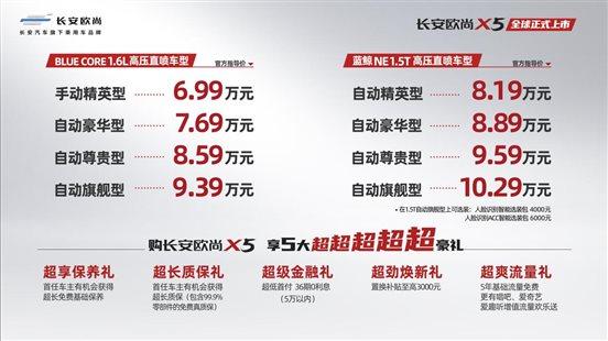 X5上市政策 价格KV